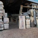 Surplus wood is ideal for woodcarvers to produce chainsaw art