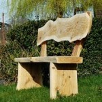 Carved Rustic Bench