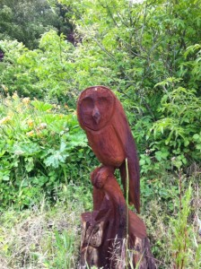 Chainsaw art made from surplus wood, we have various wood available for woodcarvers and also for firewood.